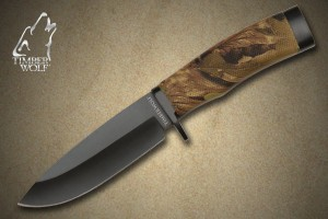 TW315 Timber Wolf® Camo Creek Hunter Fixed Blade Knife with Sheath