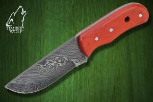 TW370 Timber Wolf Bounty Hunter Orange Wood Damascus