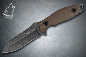 TW405 Timber Wolf Atomic Steel Full Tang Stonewash Modified Drop Point Dagger
