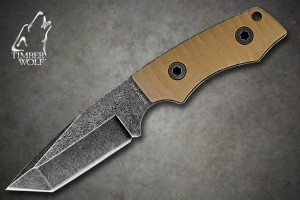 TW411 Timber Wolf Full Tang Atomic Steel Stonewash Tanto With Sheath