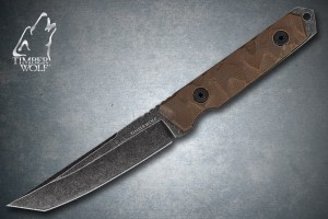 TW413 Timber Wolf Full Tang Atomic Steel Stonewash Tanto With Sheath